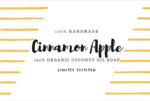 cinnamon apple organic coconut oil soap