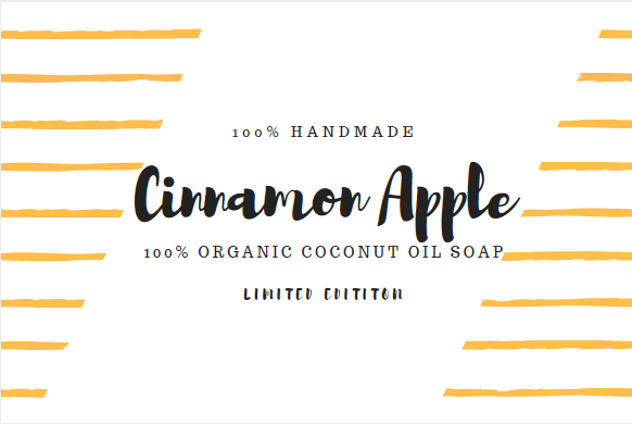 Cinnamon Apple Organice Coconut Oil Soap