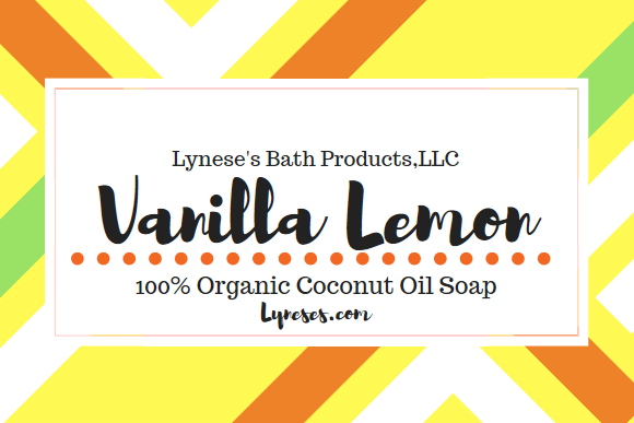 Vanilla Lemon Organic Coconut Oil Bar Soap